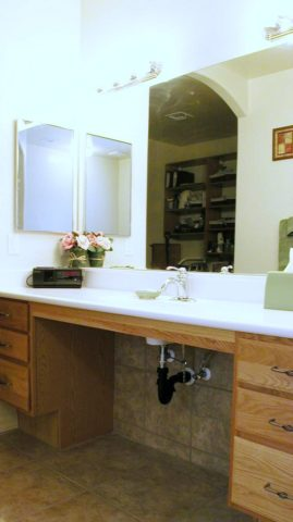 ADA bathroom vanity design / Universal Design bathroom.