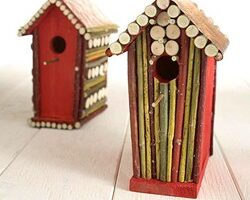 Birdhouses Made From Twigs, Sticks & Branches
