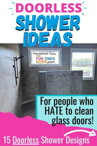 Doorless shower ideas for anyone who hates to clean glass shower doors!