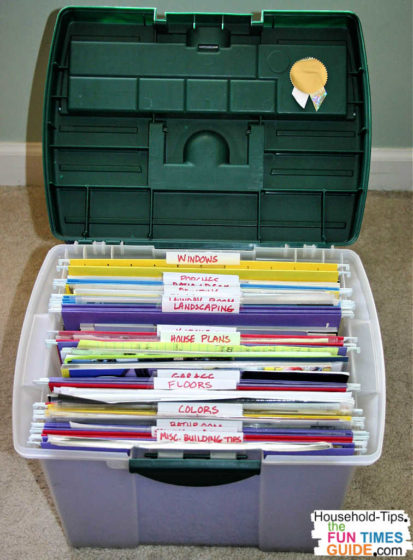Next, I moved up to needing SEVERAL file folders to hold all of the ideas I'd been saving for our future dream house.