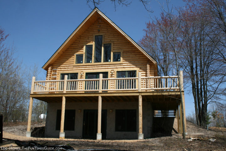 Log home plans walkout basement home design and style for Homes with walkout basement