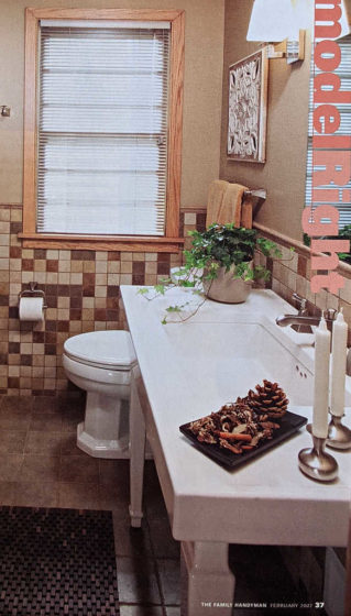This is the type of large bathroom sink we plan to have in our master bathroom -- on the other side of that floating wall.