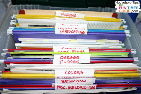 These are the various file folders I have inside my Idea Folders file. Lots of great ideas here to help you organize your dream house wants and needs!