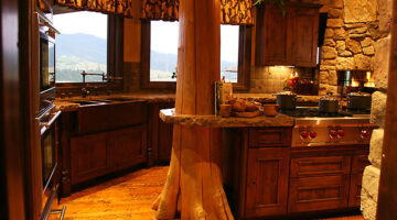 Pictures Of Rustic Columns & Poles Inside Log Homes …Some Are Real Trees!