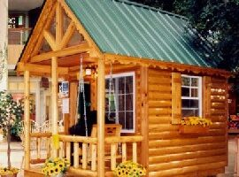 A Custom Log Cabin Playhouse