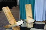 A set of really cool log chairs that we saw at the Log Home Show!
