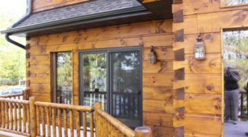 See What Your Log Home Would Look Like With Different Colors Of Stains, Chinking, Decks & Trim