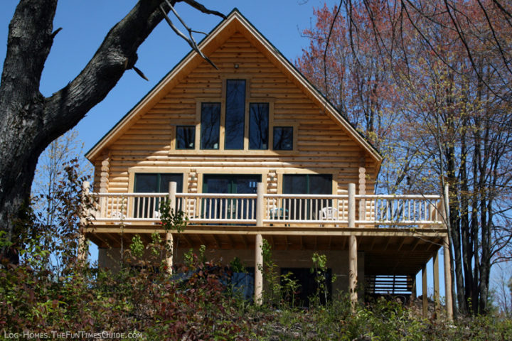 Reasons to add a basement to your log home plus how to for Does a walkout basement cost more