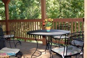 log-porch-table