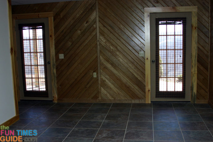 Log Siding Wall