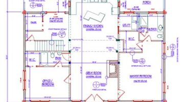 Transforming The Floor Plan You Like Best Into Actual Blueprints For Your New Log Home