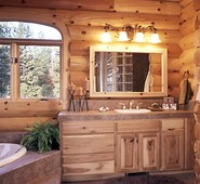 pictures of log home bathrooms  the log home guide, Bathroom decor