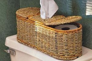 Unique Peterboro Baskets For Toilet Paper & Kleenex Tissue Storage In The Bathroom