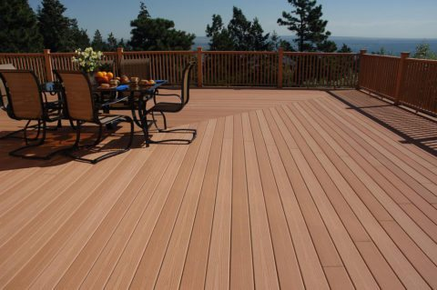 two-tone composite decking