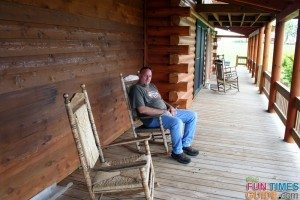 jim on an 8 foot porch