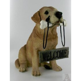 Charmant Yellow Lab Dog Welcome Sign ...