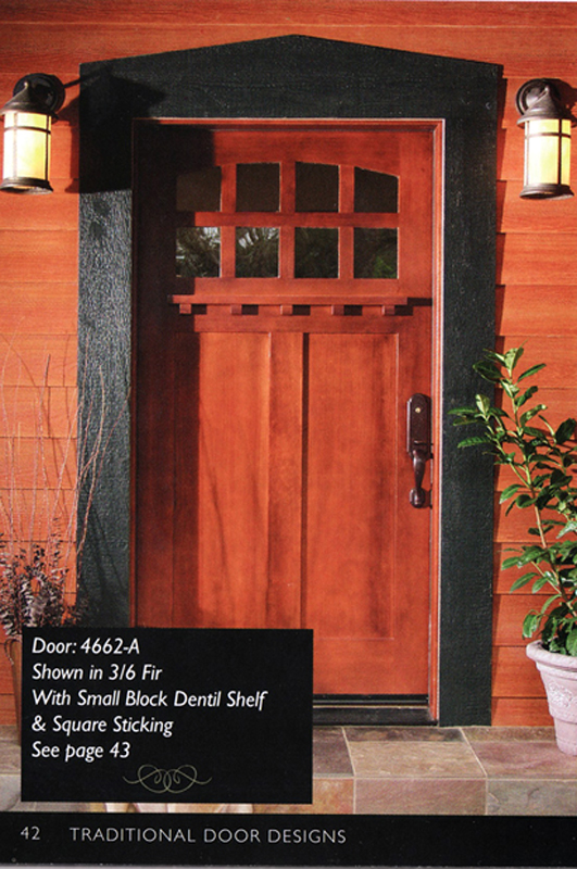 42 Inch Craftsman Style Front Entry Door ...