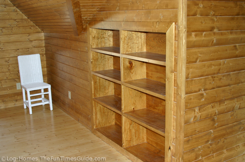 Delicieux Built In Bookcase Inside A Log Home ...