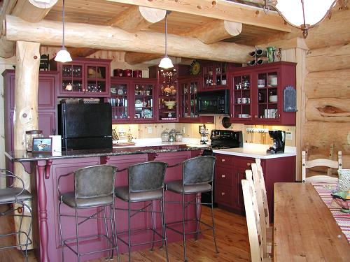 Pictures Of Log Home Kitchens The Log Home Guide