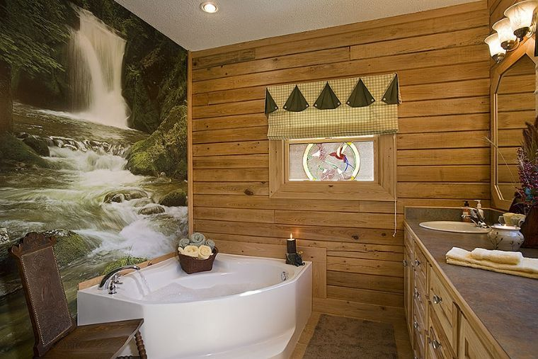 Earthy Bathroom Decorating Ideas pictures of log home bathrooms | the log home guide