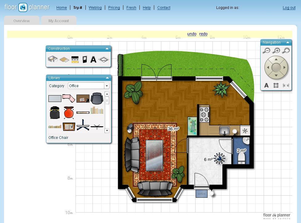 Room layout planner decorating ideas Room design software