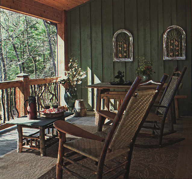 Porch Vs Deck Which Is The More Befitting For Your Home: Color Options: Tips For Painting Or Staining Interior Log