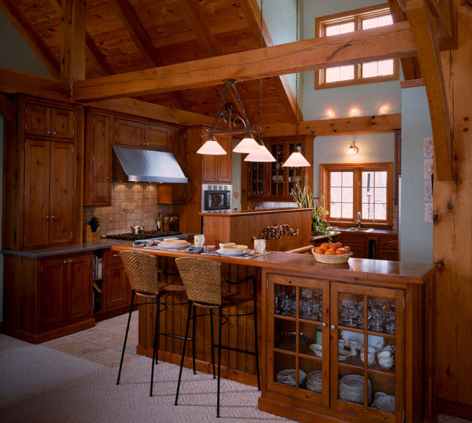 Kitchen Islands on Kitchen Island Serves As A Room Divider