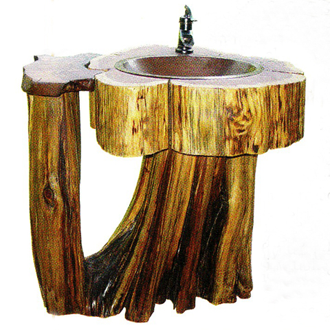 Log Home Pedestal Sink Shaped Like A Log Fun Times Guide