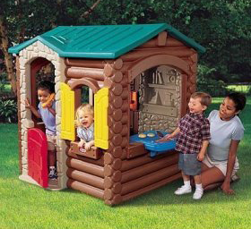 Little tikes log cabin fun times guide to log homes for Kids cabin playhouse