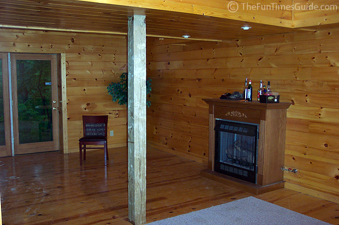 Our first time inside a log home the log home guide for Log cabin with basement