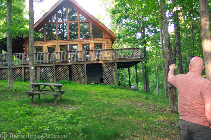Our first time inside a log home fun times guide to log for Log home decks