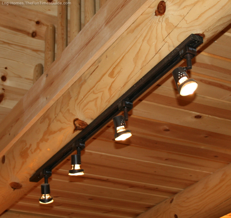 Track lighting that works well in a log cabin home. Purchased from  | 800 x 756 · 427 kB · jpeg | 800 x 756 · 427 kB · jpeg