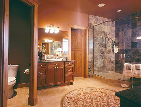 Pictures Of Log Home Bathrooms The Log Home Guide