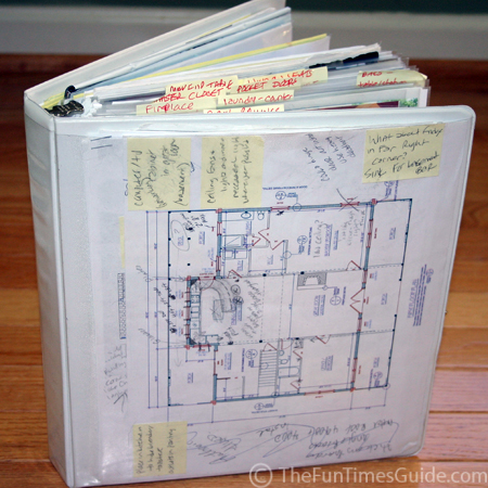 Tips for creating an 39 idea notebook 39 filled with home for Home construction binder