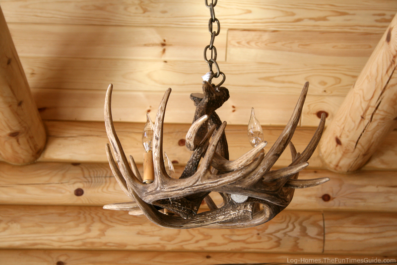Rustic log home lighting bargains fun times guide to log Log cabin chandelier