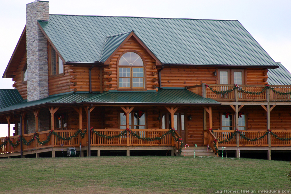 Rustic Warm Log Home Picture