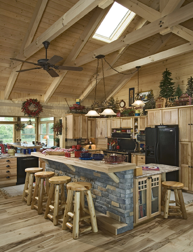 Pictures Of Stone Accents Used In Log Homes The Log Home