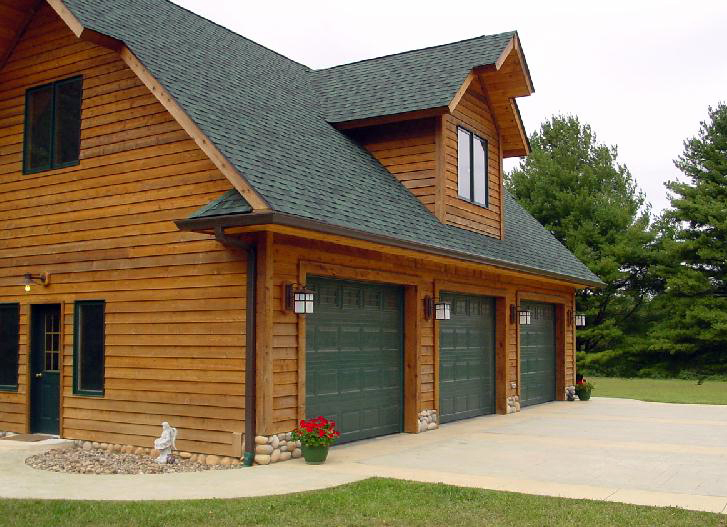 Home ideas for Log home plans with garage