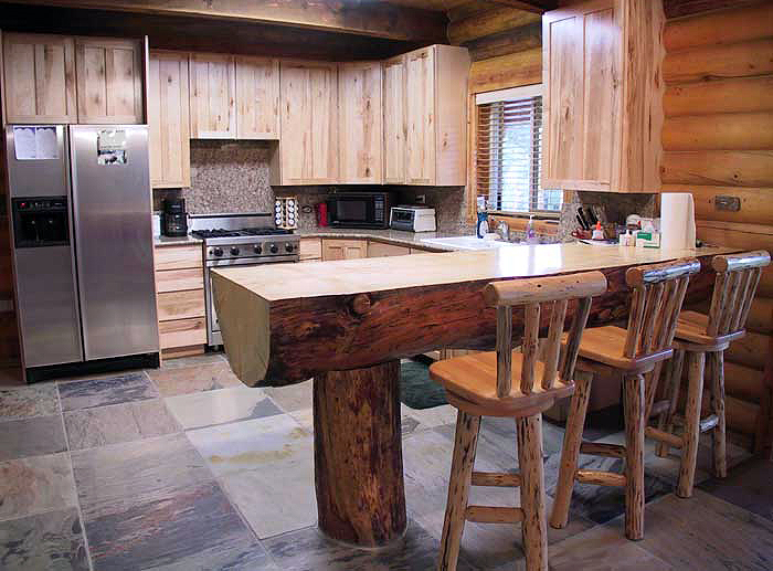 counter top for log cabin kitchen home design and decor