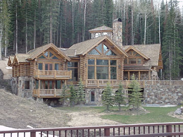 Pictures Of Stone Accents Used In Log Homes