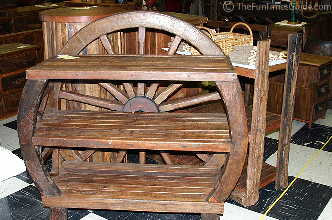 Wagon Wheel Shelf Unit ...