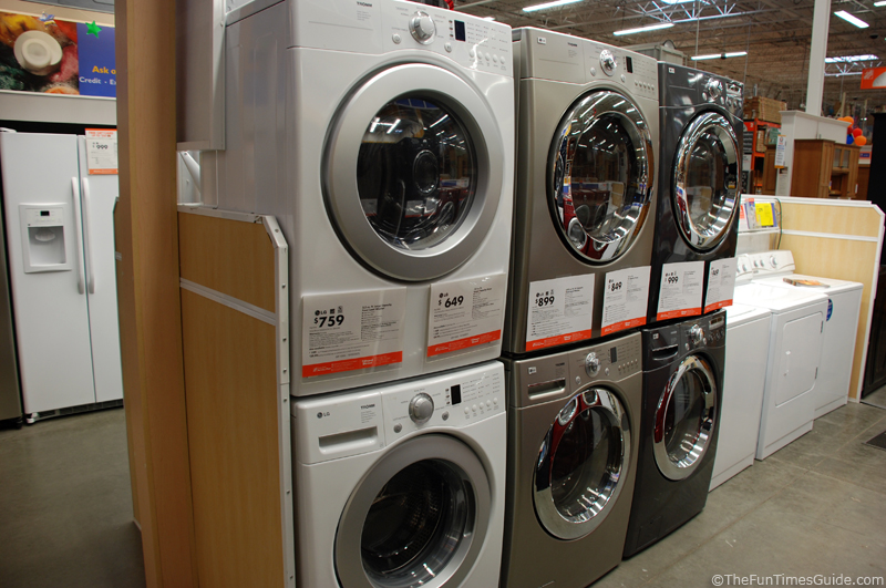 washer machine home depot
