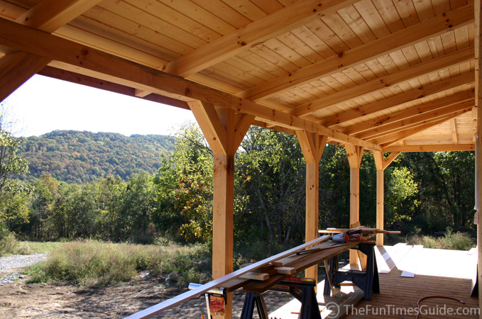 Matt And April S Timber Frame Home The Log Home Guide
